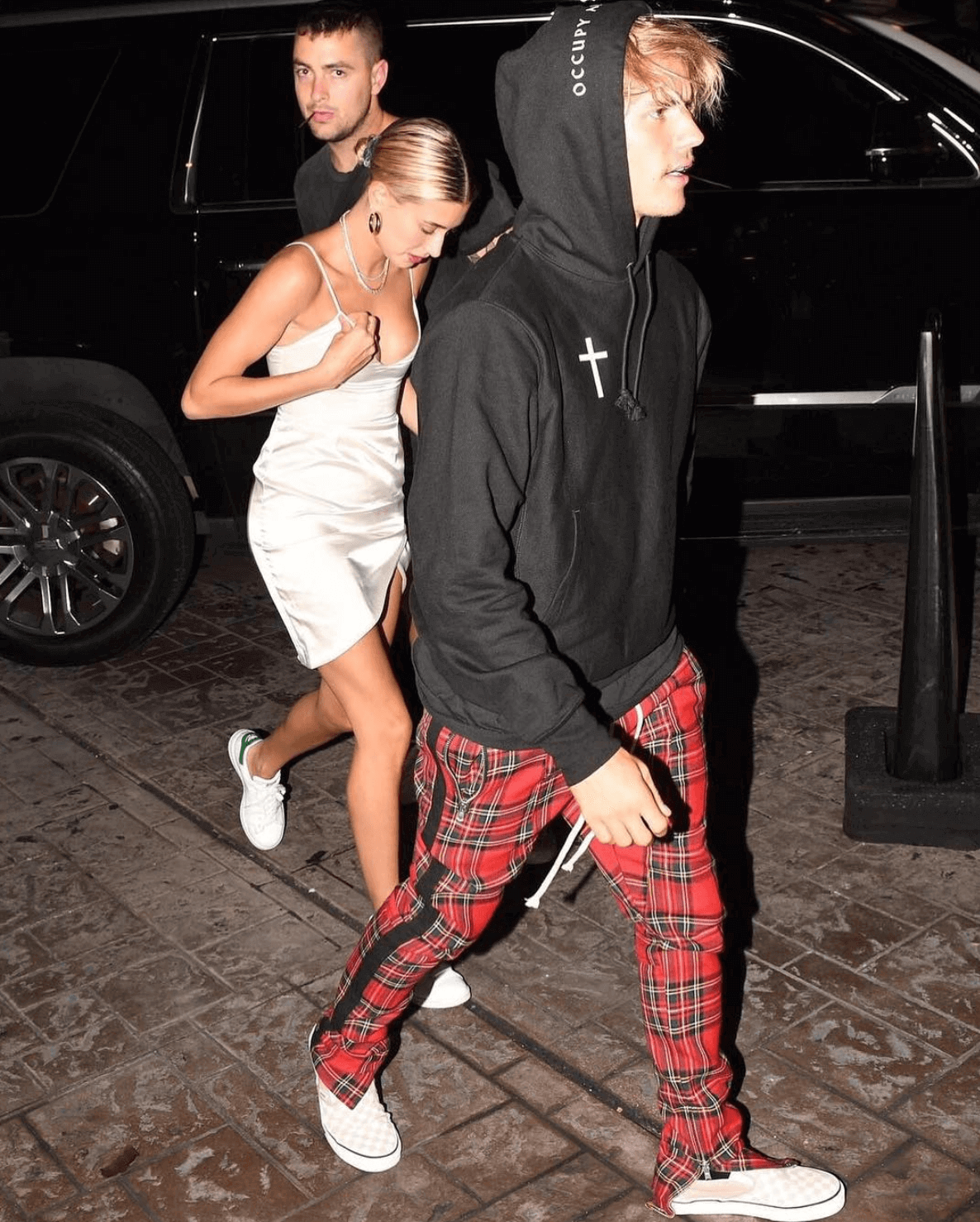 Justin Bieber in the Vans Slip on & Hailey Baldwin in the adidas Stan Smith