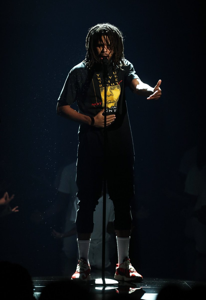 J Cole in the adidas Yung 1
