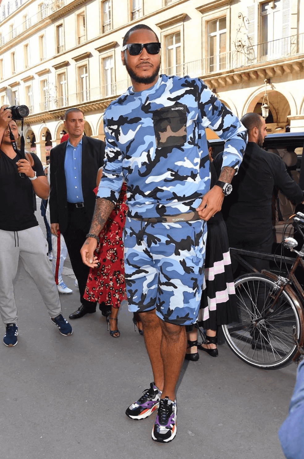 Carmelo Anthony in the Valentino Sneakers