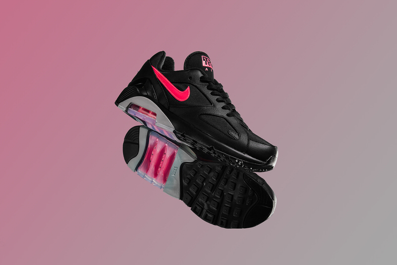 Nike Air Max 180 - Black-Pink Blast-Wolf Grey AQ9974-001 June 6 2018-1 11375d397