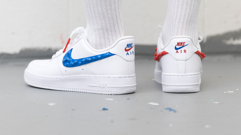 Custom Nike Air Force 1 Drips With Rubber Branding Nice Kicks