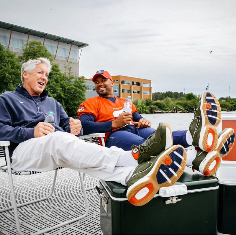 "Pete Carol & Russell Wilson in the Nike Air Monarch IV ""Weekend Campout"""