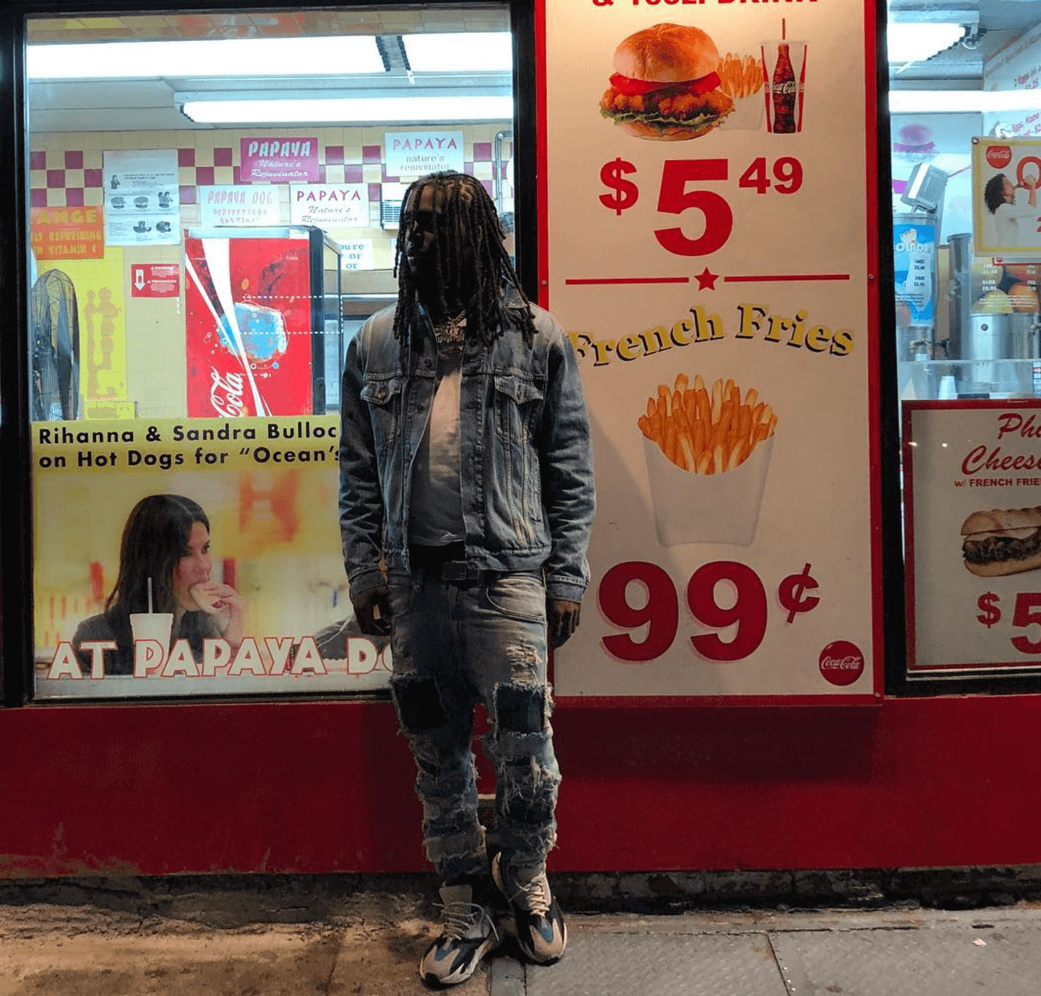 Chief Keef in the adidas Yeezy Boost 700