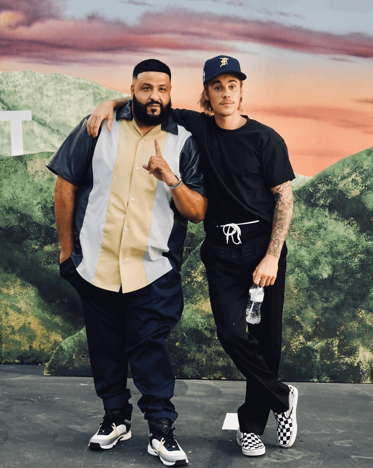 DJ Khaled in the Chanel Sneakers & Justin Bieber in the Vans Slip On