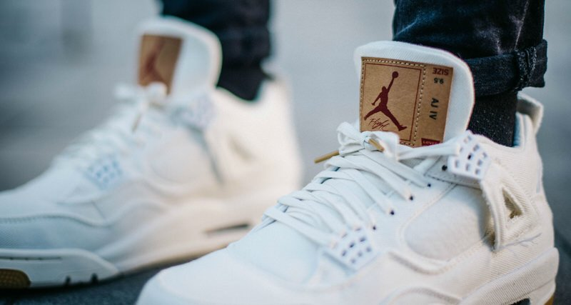 "Levi's x Air Jordan 4 ""White"""