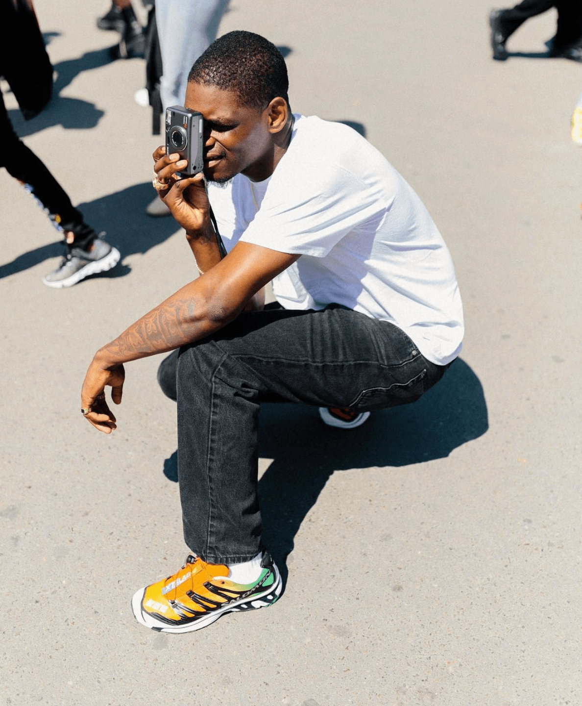 Asap Nast in the Salomon hiking Sneakers