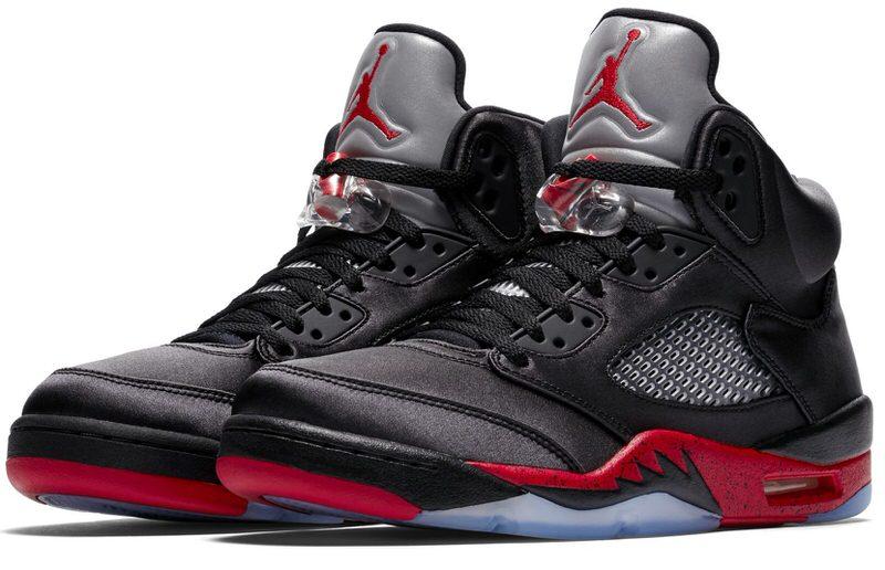 Air Jordan 5 Satin Black/Red