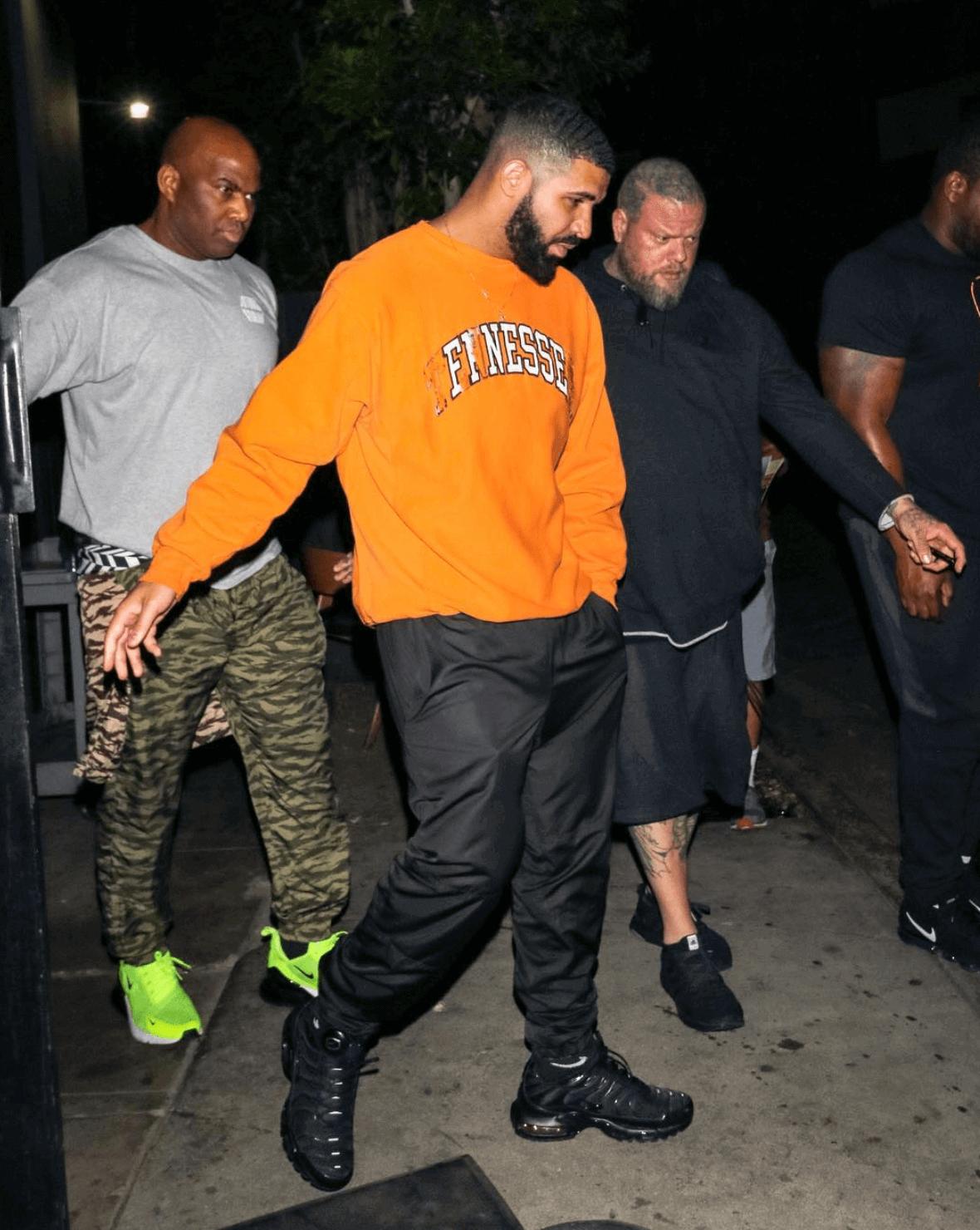 Drake in the Nike Air Max Plus