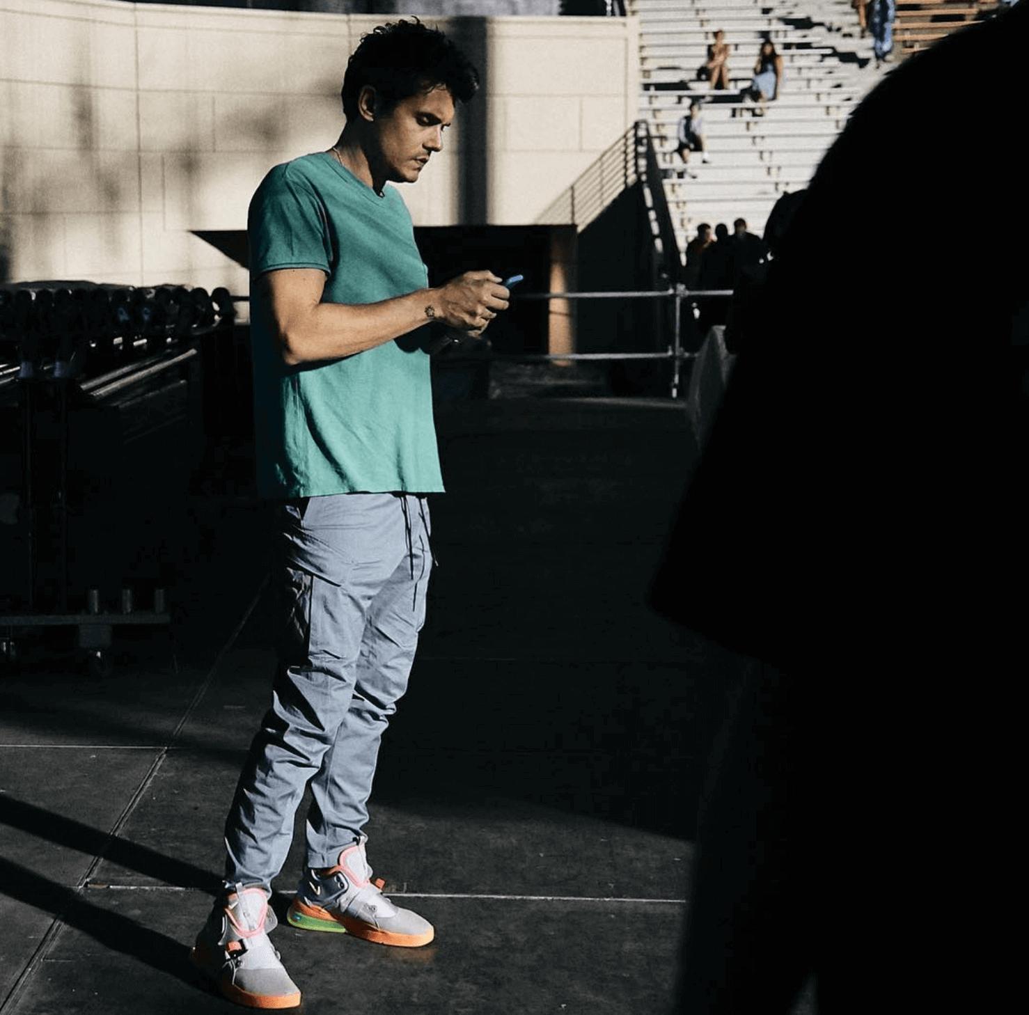 John Mayer in the Nike Air Force 270