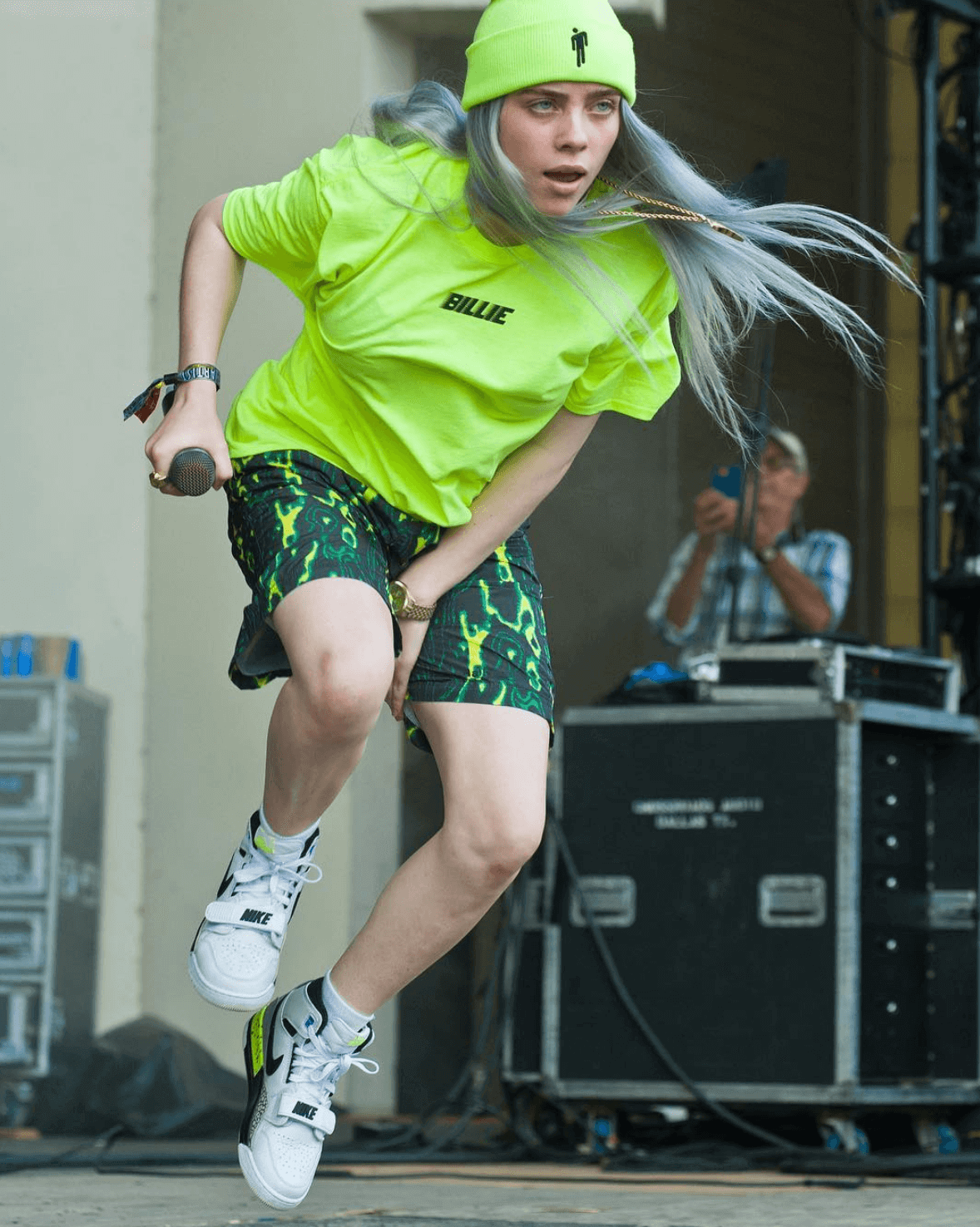 Billie Eilish in the Air Jordan Legacy 312