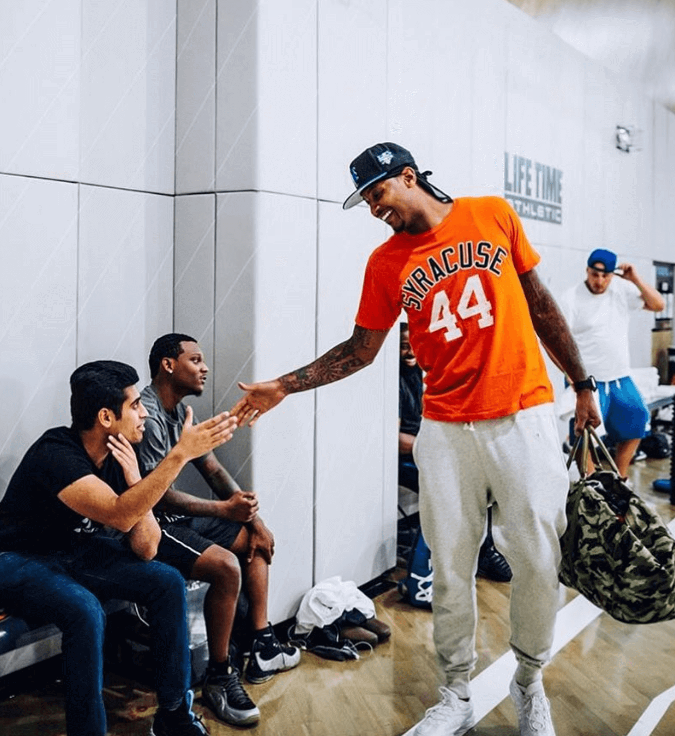 Carmelo Anthony in the Nike Air Max 98