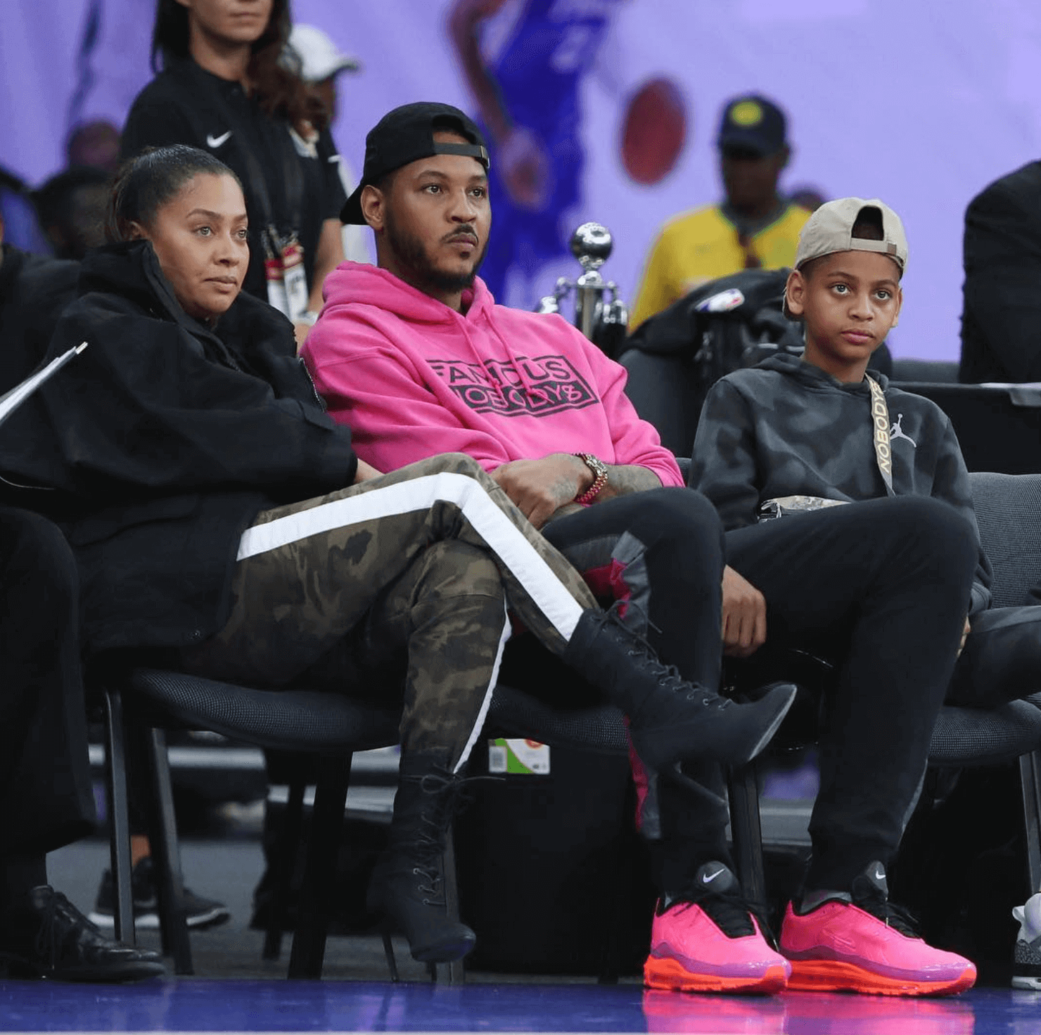 Carmelo Anthony in the Nike Air Max 97