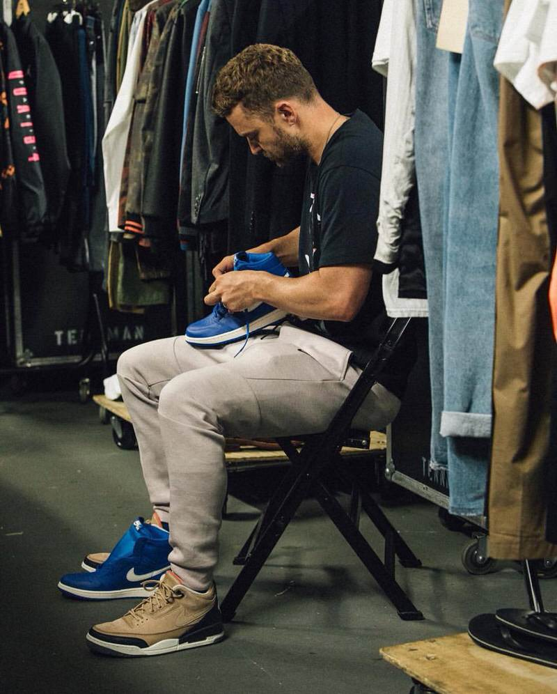 "Justin Timberlake in the Air Jordan 3 Retro JTH ""Bio Beige"""