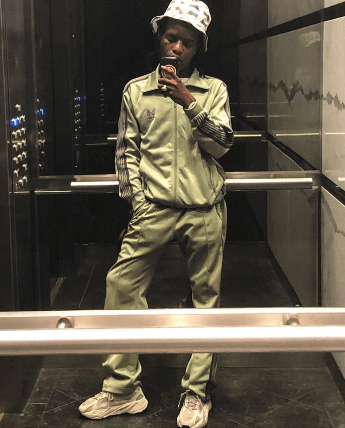 Ian Connor in the adidas Yeezy Boost 700 V2