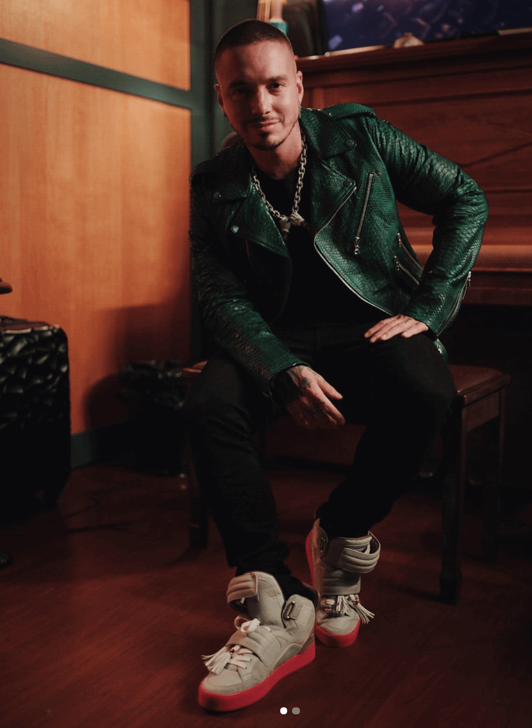 J Balvin in the Kanye West x Louis Vuitton Jasper