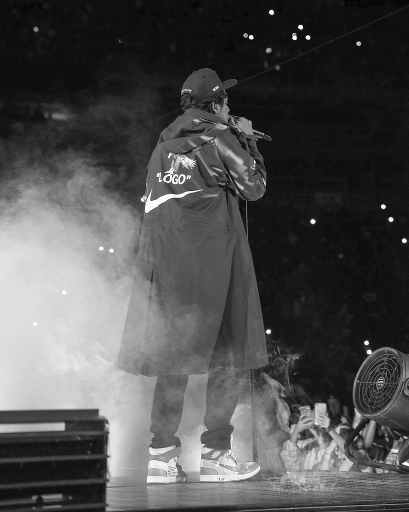 Jay Z in the Off White x Air Jordan 1