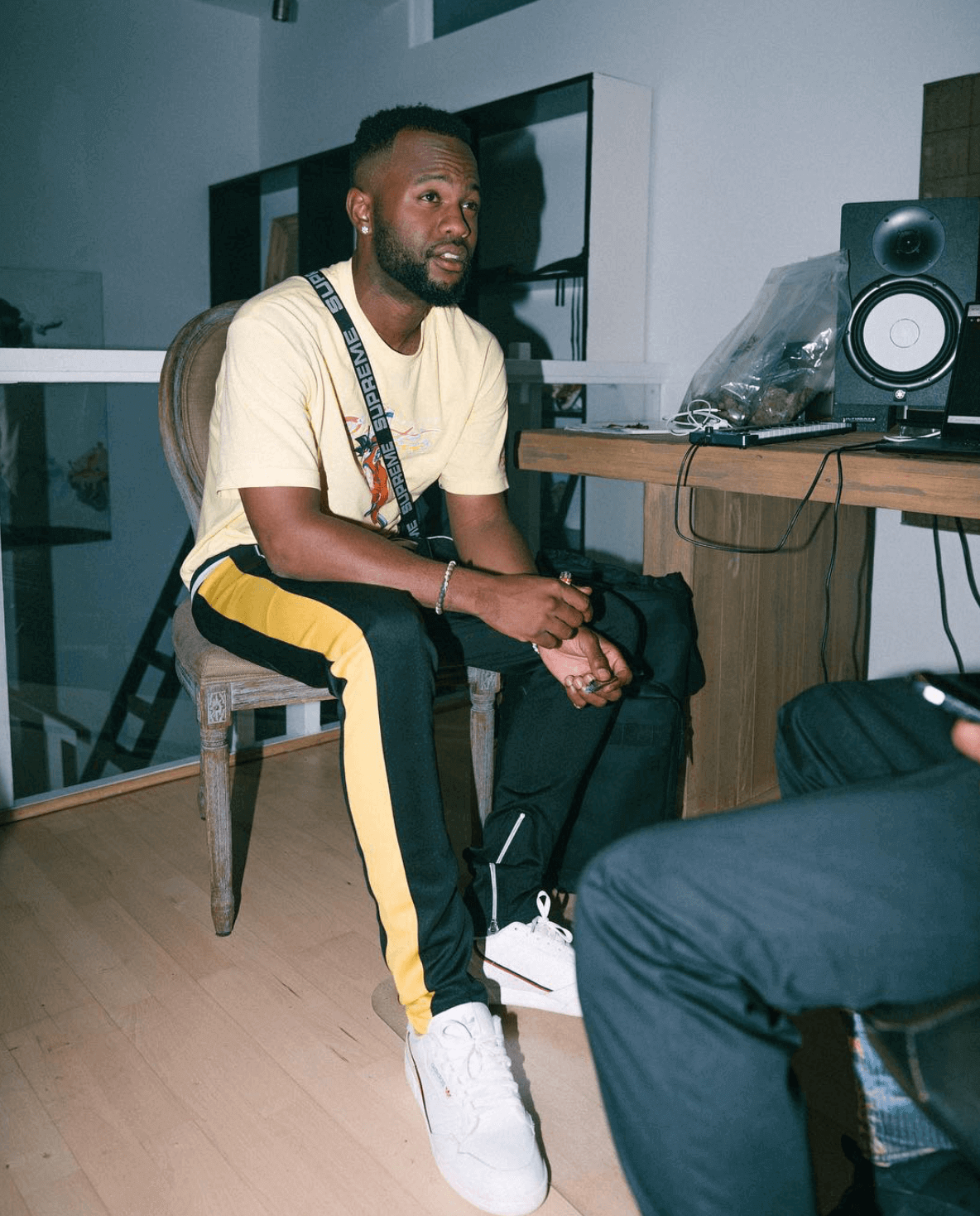 Casey Veggies in the adidas Continental 80s
