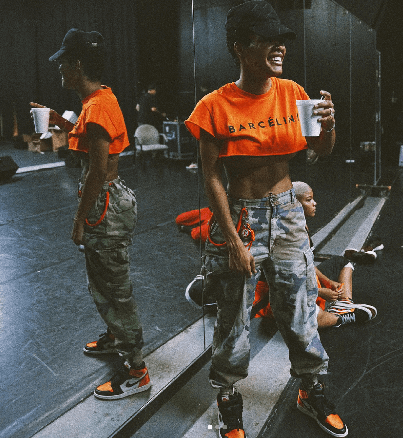 "Teyana Taylor in the Air Jordan 1 Retro High OG ""Satin Backboard"""