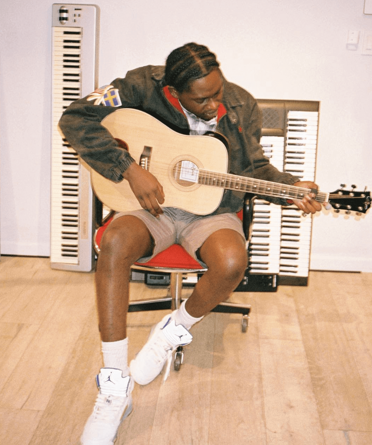 "Theophilus London in the Air Jordan 5 Retro ""Stealth"""