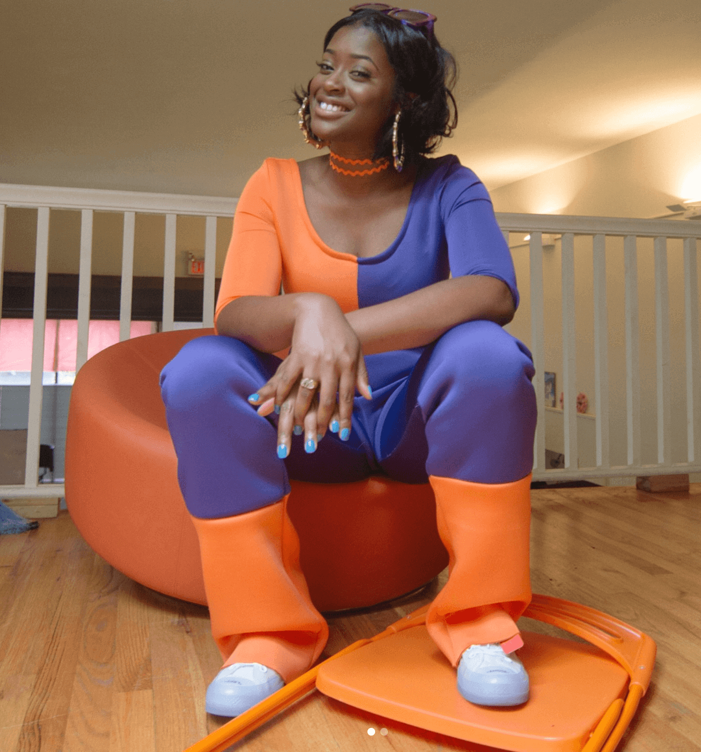 Tierra Whack in the Off White x Converse Chuck Taylor