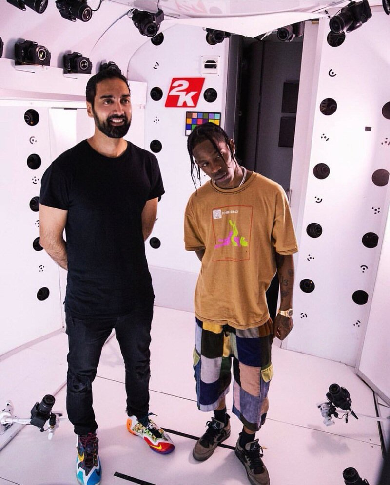 "Ronnie 2K in the Nike What the Lebron 11 & Travis Scott in the Travis Scott x Air Jordan 4 ""Friends and Family"""