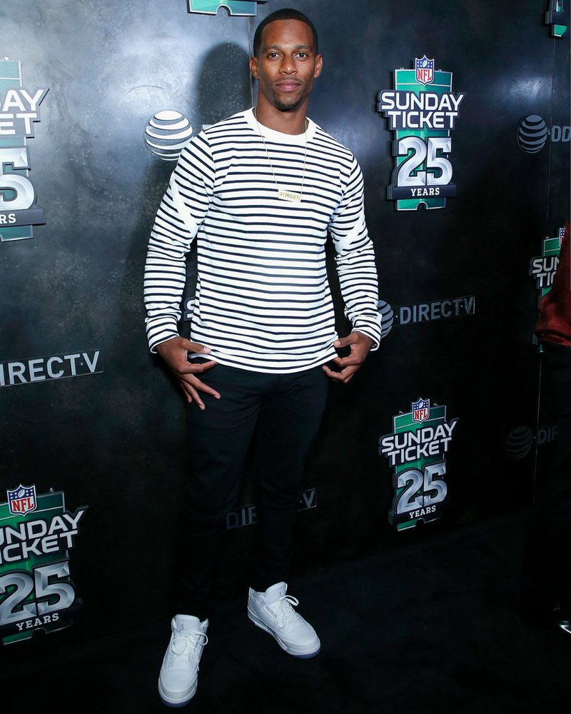 Victor Cruz in the Air Jordan 3 Retro