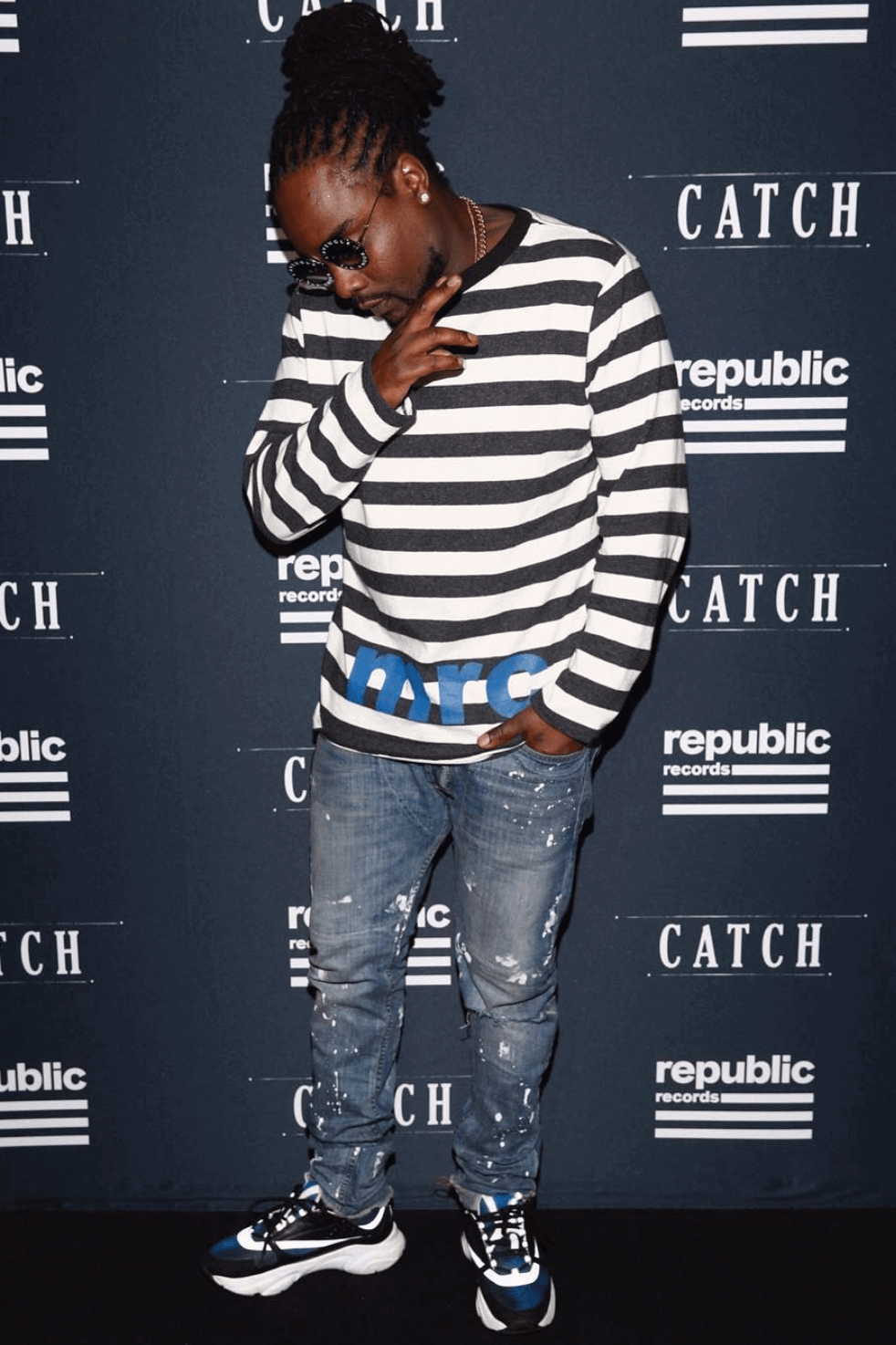Wale in the Dior sneakers