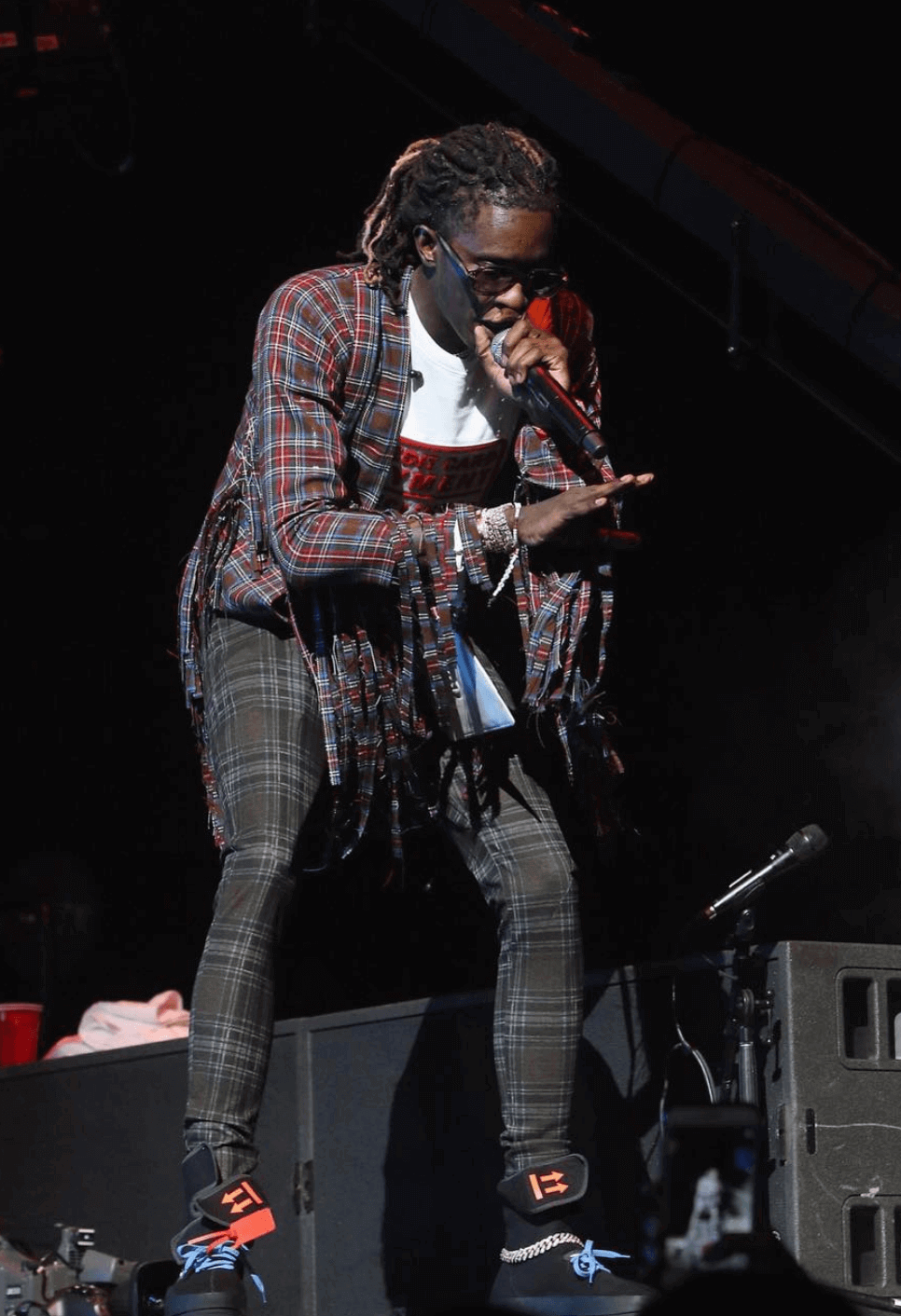 Young Thug in the Off White Sneakers