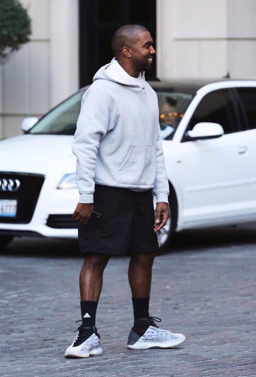 kanye wearing yeezy sesame