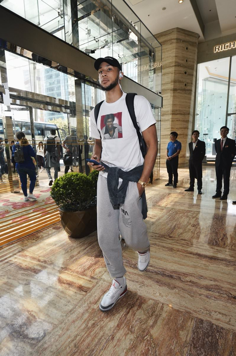 "Ben Simmons in the Air Jordan 3 Retro ""Katrina"""