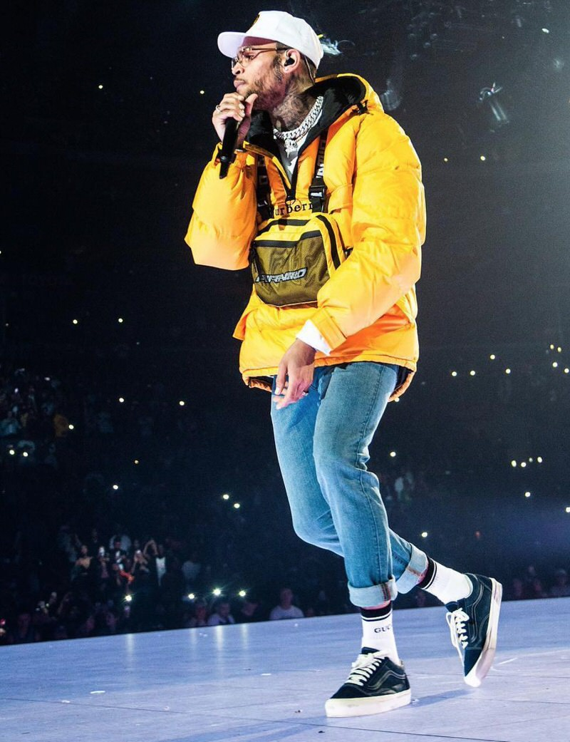 Chris Brown in the Vans Old School