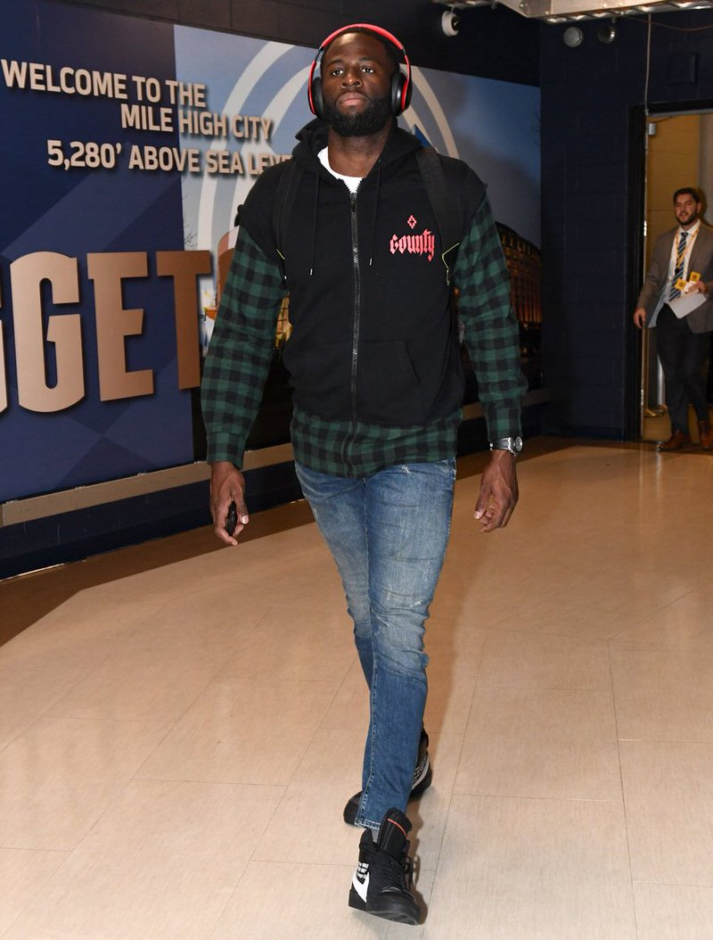 "Draymond Green in the Off White x Nike Blazer Mid ""Grim Reaper"""