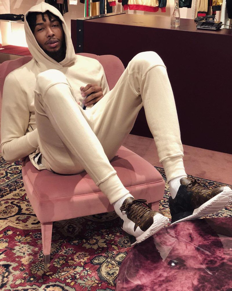 Brandon Ingram in the Louis Vuitton Sneakers