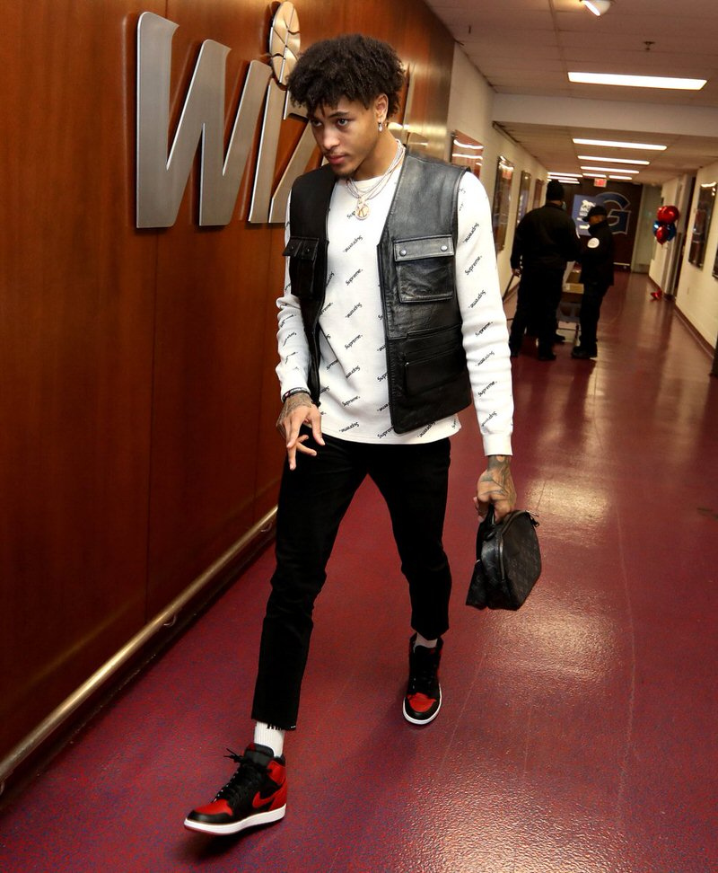 "Kelly Oubre in the Air Jordan 1 ""Bred"""