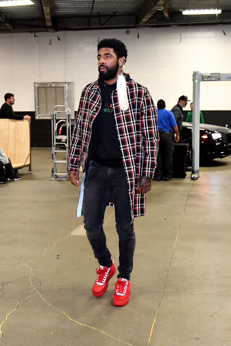 Kyrie Irving in the OBJ x Nike Air Force 1 Low