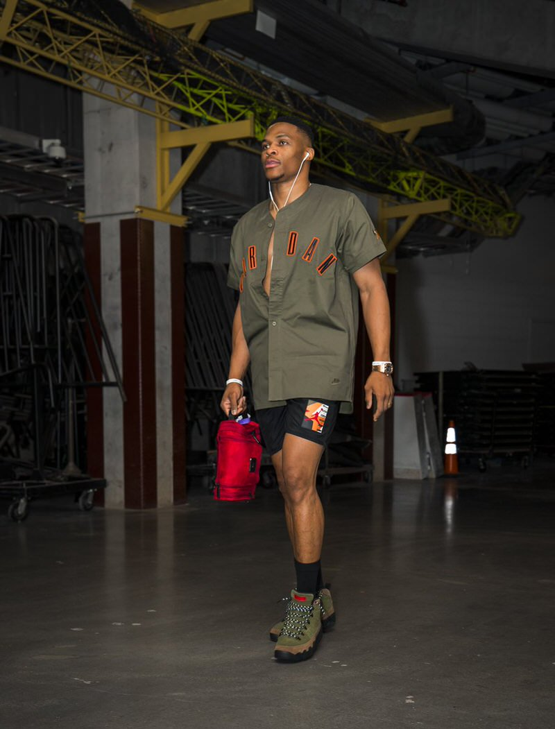 Russell Westbrook in the Air Jordan 9 Boots