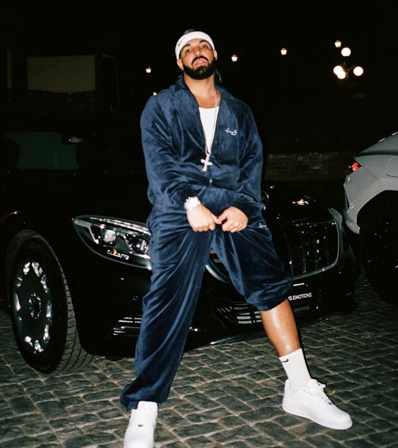 Drake in the Nike Air Force 1 Low