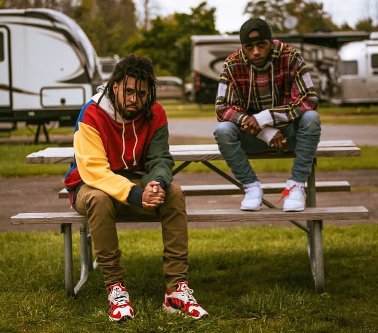 "J Cole in the adidas Yung 1 & 6lack in the Off White x Nike Air Presto ""White"""