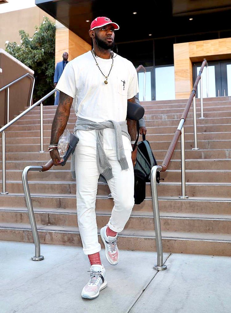LeBron James demonstrating why John Elliott remains to be one of his favorite brands.