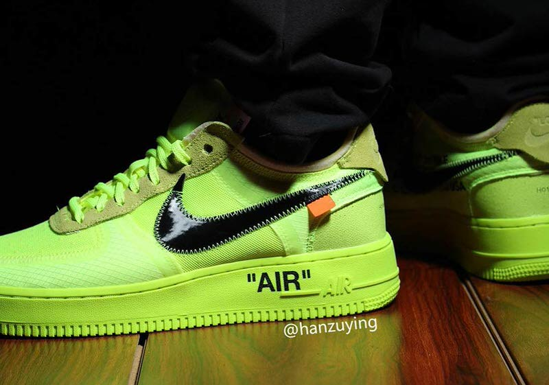 """Off White x Nike Air Force 1 Low """"Volt"""""""