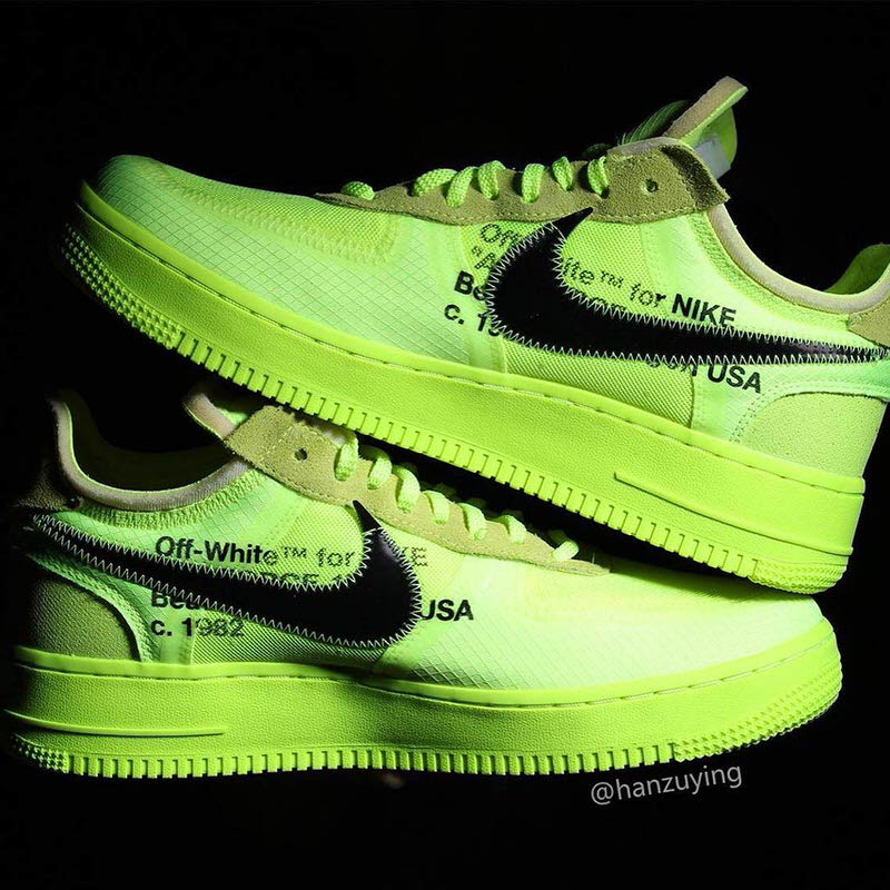 off white air force 1 volt release date