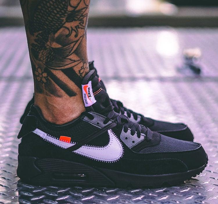 A Closer Look At The Off White X Nike Air Max 90 Black Nice Kicks
