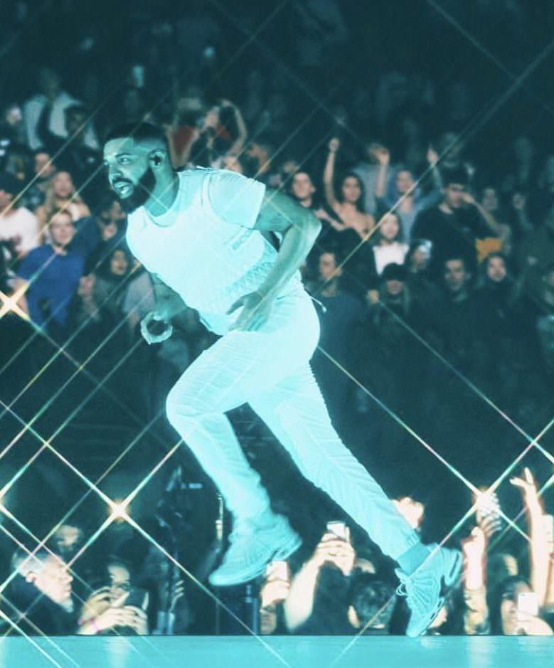 """Drake in the Nike Air Max Plus """"Scorpion PE"""""""
