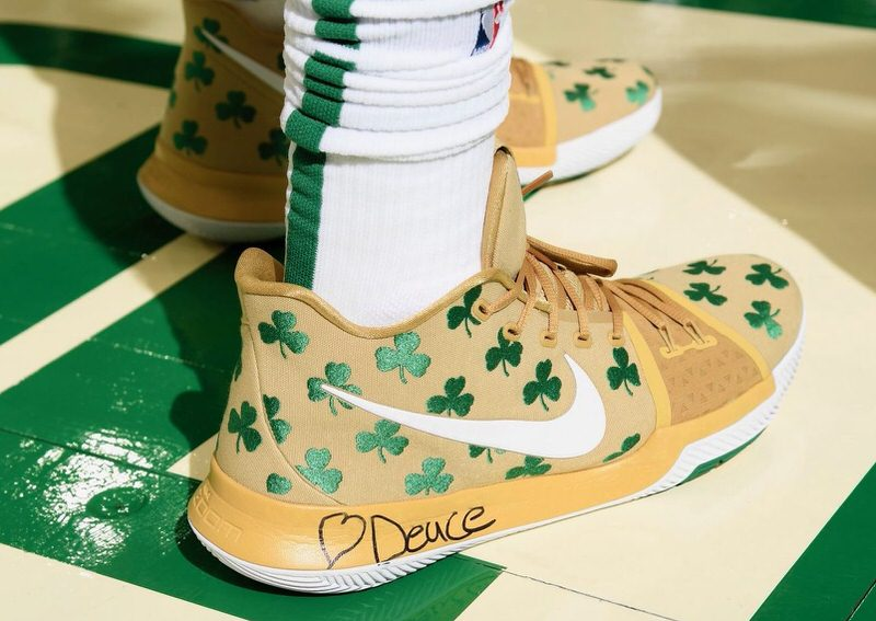 Jayson Tatum in the Nike Kyrie 3