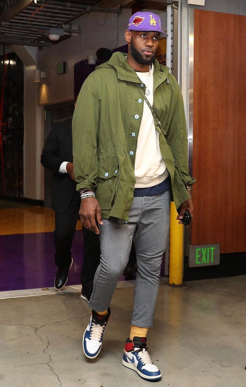 The Union x Air Jordan 1s are California essentials. And so are those neutral tones that he's used to layering with them.