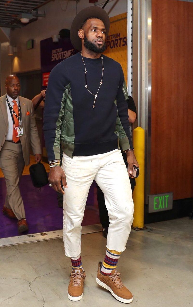 Workwear is going to be one of the top trends over the next several season. According to King James, it looks like it applies to footwear as well.