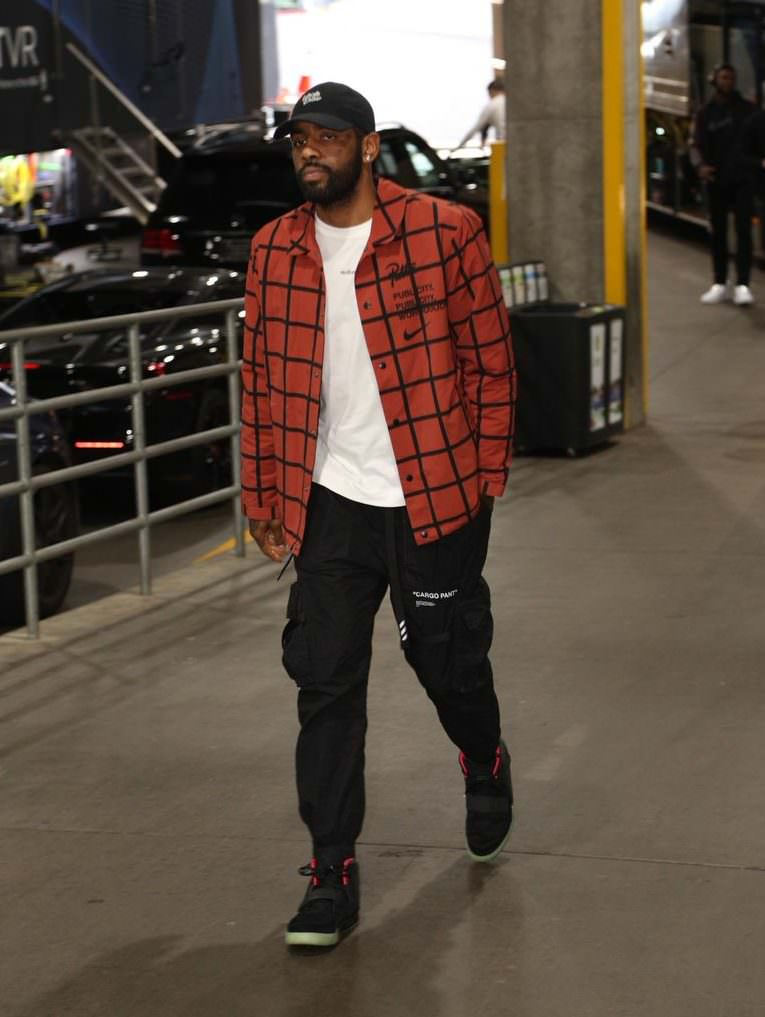 """Kyrie Irving in the Nike Air Yeezy 2 """"Solar Red"""""""