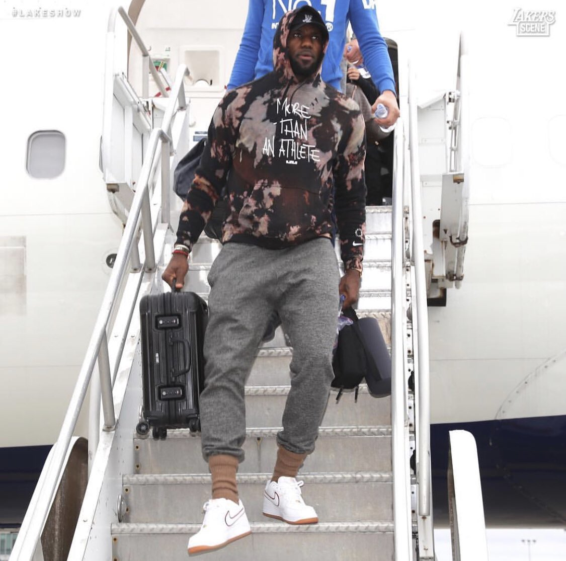 Lebron James in the Nigel Sylvester x Nike Air Force 1 Low