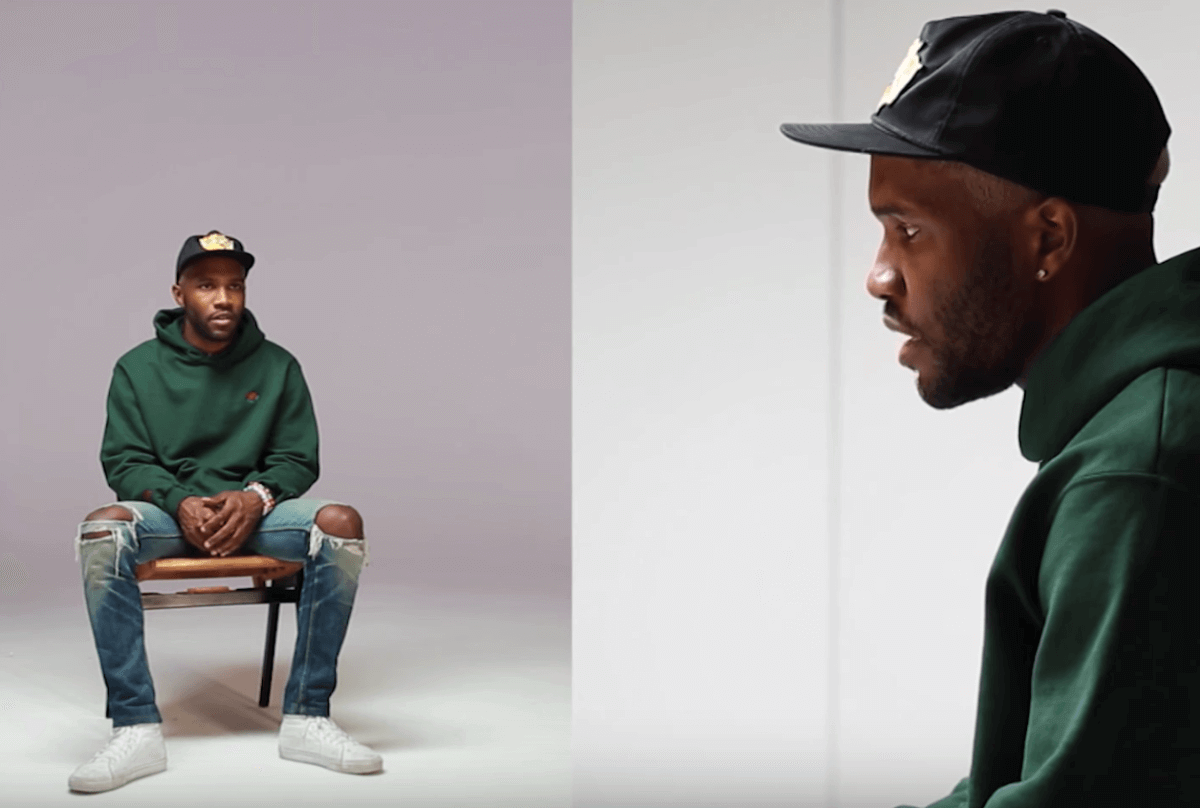 A cut above the rest. Frank Ocean's naturally worn-in apparel helps give his look an authentic edge.