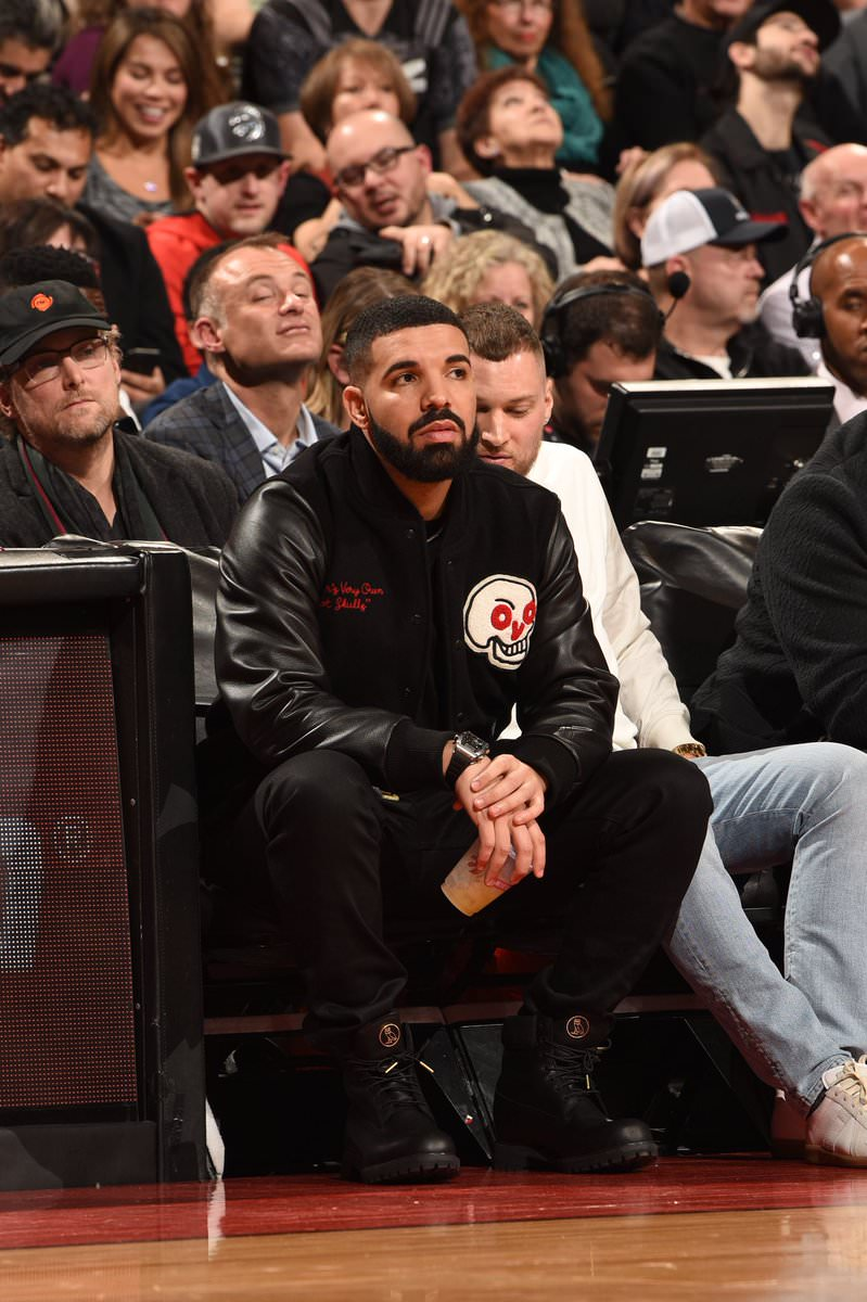 Drake in the OVO x Timberland Boots